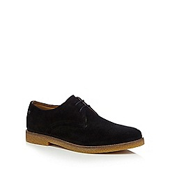 Base London - Black suede 'Whitlock' Derby shoes