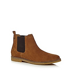 Base London - Tan suede 'Ferdinand' Chelsea boots