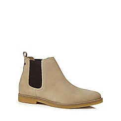 Base London - Taupe suede 'Ferdinand' Chelsea boots
