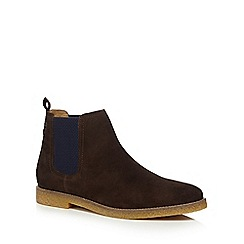 Base London - Brown suede 'Ferdinand' Chelsea boots