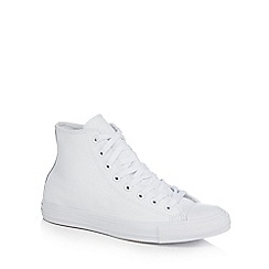 Converse - White leather 'All Star' hi-top trainers