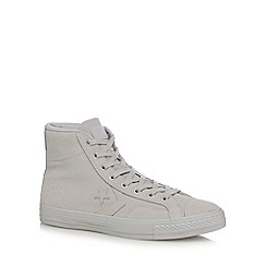 Converse - White leather 'Star Player' high tops