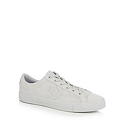 Converse - Light grey 'Star Player' suede trainers