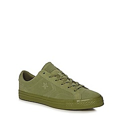 Converse - Green suede 'Star Player' trainers