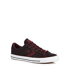 Converse - Dark red 'Star Player' trainers