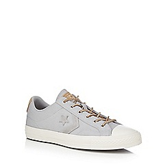Converse - Grey canvas 'Star Player' lace up shoes