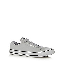 Converse - Grey 'All Star' canvas trainers