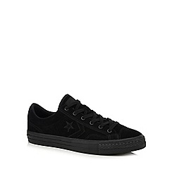 Converse - Black 'Star Player' suede trainers