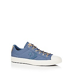 Converse - Blue canvas 'Star Player' lace up shoes