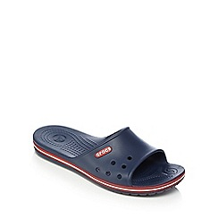 Crocs - Navy slip on sandals