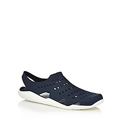 Crocs - Navy slip-on sandals