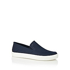 Crocs - Navy 'Citilane Roka' slip-on shoes