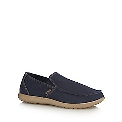 Crocs - Navy textured slip on shoes