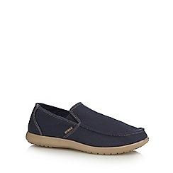 Crocs - Navy textured slip on shoes