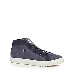 G-Star Raw - Navy 'Kendomid' high top trainers