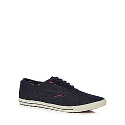 Jack & Jones - Navy denim 'Spider' trainers