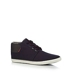 Jack & Jones - Navy 'Vertigo' canvas boots