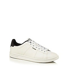 Jack & Jones - White 'Bane' faux leather trainers