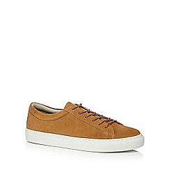 Jack & Jones - Tan suede 'Galaxy' trainers