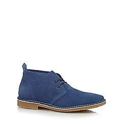 Jack & Jones - Blue suede desert boots