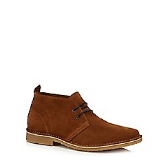 Jack & Jones - Tan suede 'Gobi' Desert boots
