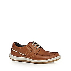 Lotus Since 1759 - Tan leather 'Sheridan' boat shoes