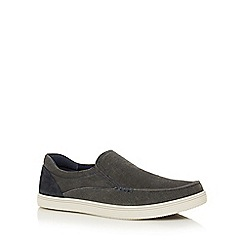 Lotus Since 1759 - Grey 'Crossley' slip-on shoes