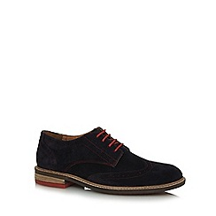 Lotus Since 1759 - Navy suede 'Garrett' Derby brogues