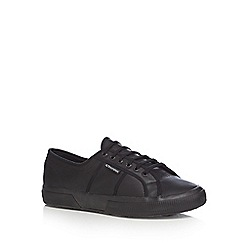 Superga - Black leather 'Fglu' trainers