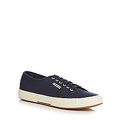Superga - Navy canvas 'Cotu Classic' lace up shoes