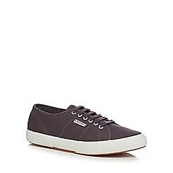 Superga - Dark grey canvas 'Cotu Classic' lace up shoes