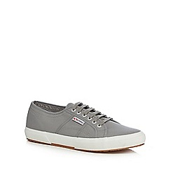 Superga - Light grey canvas 'Cotu Classic' lace up shoes