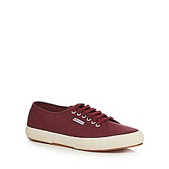 Superga - Plum canvas 'Cotu Classic' lace up shoes