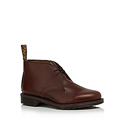 Dr Martens - Brown leather 'Sawyer' Desert boots