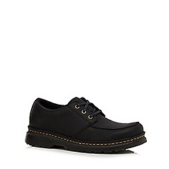 Dr Martens - Black leather 'Lumbock' Derby shoes