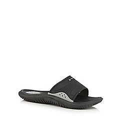 Rider - Black slip on sandals
