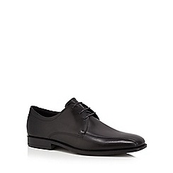 ECCO - Black leather 'Edinburgh' Derby shoes