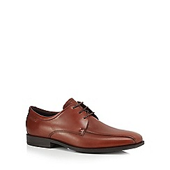ECCO - Brown leather 'Edinburgh' Derby shoes