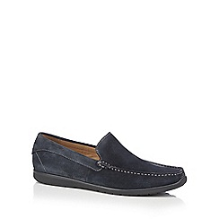 ECCO - Blue suede 'Dallas' loafers