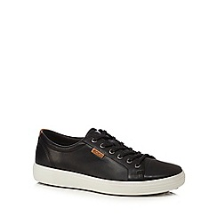 ECCO - Black leather trainers