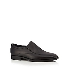 ECCO - Black leather 'Edinburgh' loafers