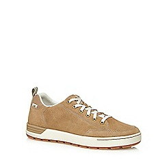 Caterpillar - Beige suede lace up trainers