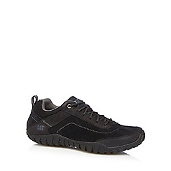 Caterpillar - Black suede lace up trainers
