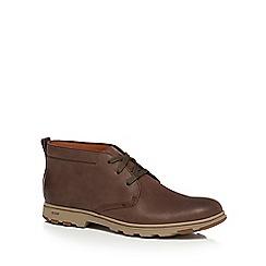 Caterpillar - Dark brown leather 'Ease' chukka boots