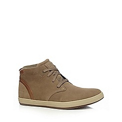 Caterpillar - Beige suede 'Tactic' lace up boots