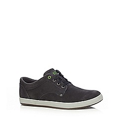 Caterpillar - Dark blue suede 'Edition' lace up trainers