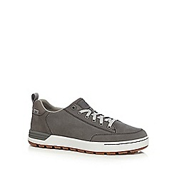 Caterpillar - Grey suede 'Evasion' lace up trainers