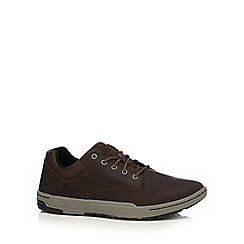 Caterpillar - Dark brown suede 'Colfax' lace up trainers
