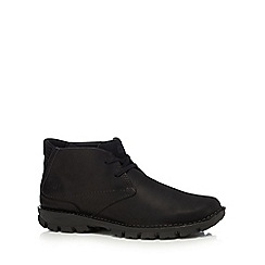 Caterpillar - Black leather 'Mitch' chukka boots