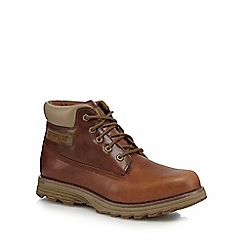 Caterpillar - Brown leather 'Founder' lace up boots